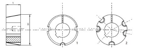 Tuleje stożkowe Taper Lock schemat
