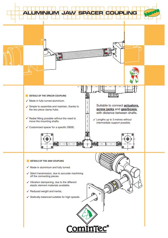 ComInTec - sprzęgła aluminiowe